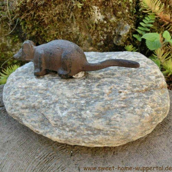 Garten Tiere Gusseisen Stein Unikat Gartendeko Dekoartikel Maus Tierfigur TT153