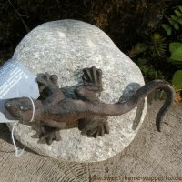 Garten Tiere Gusseisen Stein Unikat Gartendeko Dekoartikel Salamander TT153