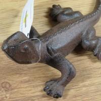 Echse Reptil Schuppenkriechtier Gusseisen Gartendekoration Deko Lurch GA1071