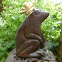 Gartenschlauchführung Froschkönig Gusseisen Gartenartikel Frosch TG34