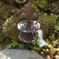Gartenschlauchführung Lilie schlicht Gusseisen...