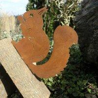 Eichhörnchen Edelrost Rost Gartendekoration Deko...