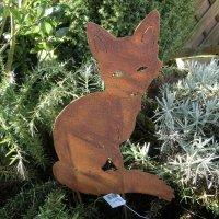 Gartenstecker Edelrost Rost Garten Deko Gartendeko Dekoration Fuchs 806400