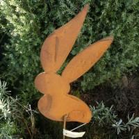 Gartenstecker Edelrost Rost Garten Deko Gartendeko Dekoration Hase 65625