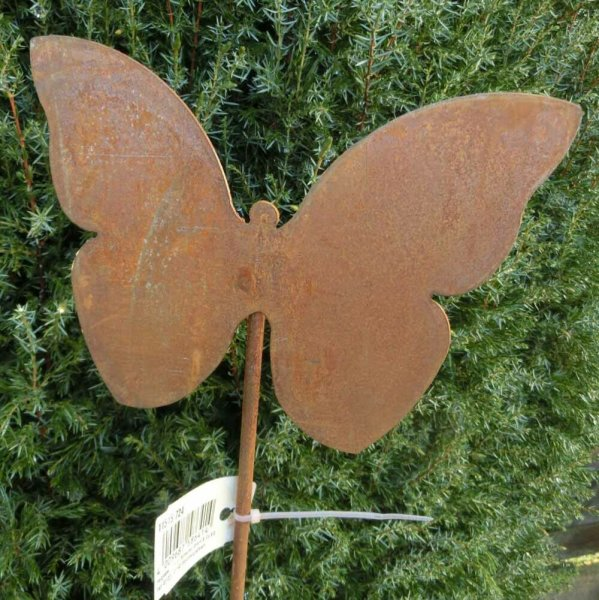 Gartenstecker Edelrost Rost Garten Deko Gartendeko Schmetterling 11515.724