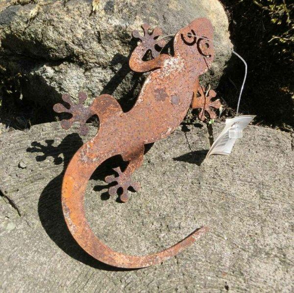 Gecko Salamander Edelrost Rost Gartendekoration Deko Garten Gartendeko 137636