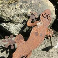 Gecko Salamander Edelrost Rost Gartendekoration Deko...