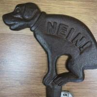 Hinweisschild No Dog Beetstecker Schild Hund Gusseisen Verbotsschild HB17