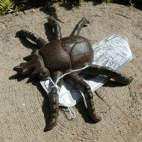 Insekt Rosenkäfer Gusseisen Gartendeko Wanddeko Tiere Landhaus Garten Deko TT174