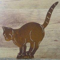 Katze Katzen Tiere Edelrost Rost Gartendekoration Deko...