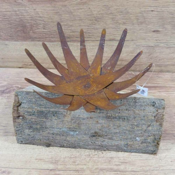 Kerzenhalter Kerze Lotusblüte Edelrost Rost Gartendekoration Deko Garten 137463