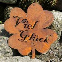 Kleeblatt Viel Glück Edelrost Rost Gartendeko Dekoration Deko Garten 160371