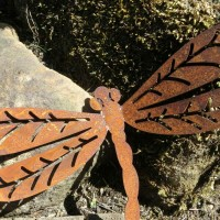 Libelle Edelrost Rost Gartendekoration Deko Garten Gartendeko 137072