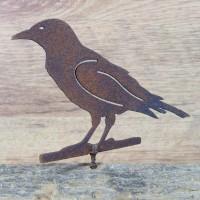 Rabe Vogel Tiere Edelrost Rost Gartendekoration Deko Garten Gartendeko 137443