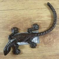 Salamander Gecko Echse Eidechse Gusseisen Gartendekoration Tiere Lurch TT157
