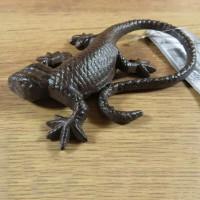 Salamander Gecko Echse Eidechse Gusseisen Gartendekoration Tiere Lurch TT03