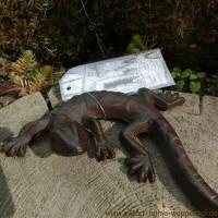 Salamander Gecko Echse Gusseisen Eidechse Gartendekoration Tiere TT158