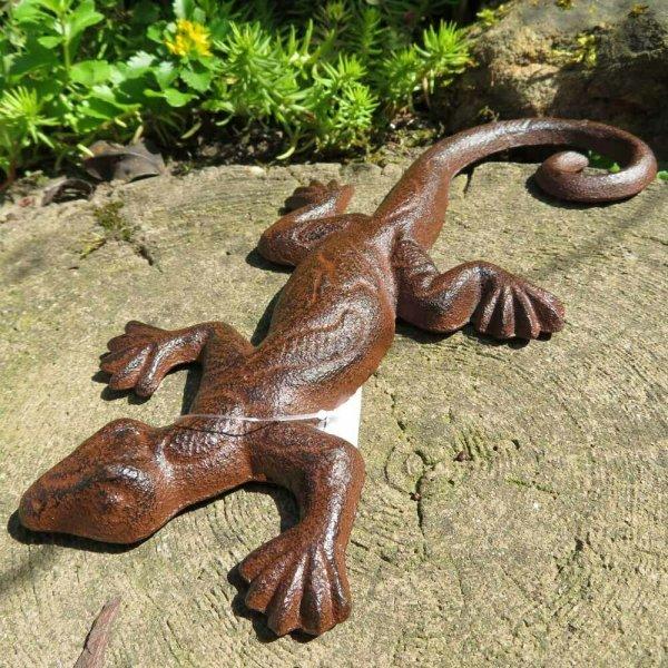 Salamander Gecko Echse Gusseisen Eidechse Gartentiere Molch Lurch GA861