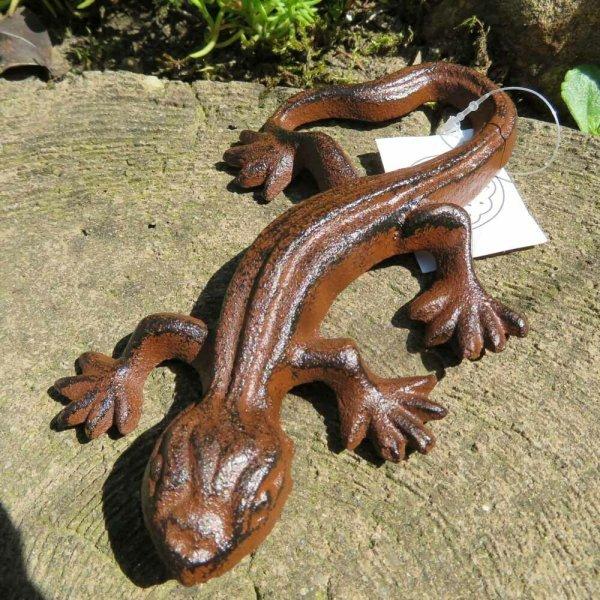 Salamander Gecko Echse Gusseisen Eidechse Gartentiere Molch Lurch NW06-16