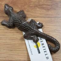 Salamander Gecko Echse Gusseisen Eidechse Gartentiere Molch Lurch WP058G-B