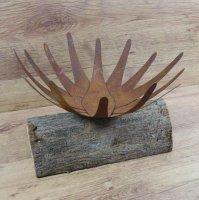 Schale Kerzenhalter Lotusblüte Edelrost Rost Gartendekoration Deko Garten 137465