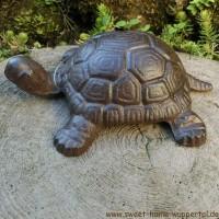 Schildkröte Gusseisen Garten Tiere Gartentiere Gartendeko Gartenartikel TT120