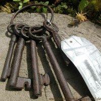 Schlüsselbund Gusseisen Gartendeko Schlüssel Deko Landhaus Nostalgisch DB53