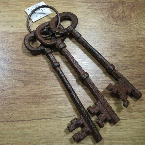 Schlüsselbund Gusseisen Schlüssel Dekoartikel Dekoration Wanddekoration WD1987