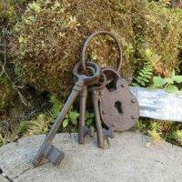 Schlüsselbund Schloss Gartendeko Gusseisen...