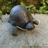 Schlüsselversteck Gusseisen Schildkröte Deko Gartendeko Versteck Landhaus LH140