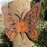 Schmetterling Edelrost Rost Gartendekoration Deko Garten...