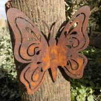 Schmetterling Edelrost Rost Gartendekoration Deko Garten Gartendeko 137373