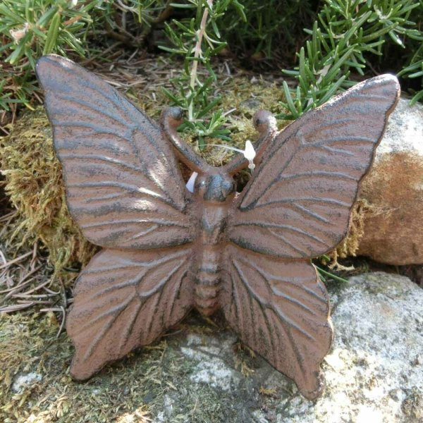 Schmetterling Gusseisen Gartendeko Wanddeko Landhaus Garten Butterfly GA665-S