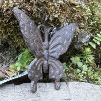 Schmetterling Gusseisen Gartendeko Wanddeko Landhaus...