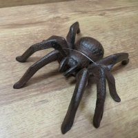Spinne Gusseisen Wandbefestigung Gartendeko Dekoartikel Insekt Garten GA668-L