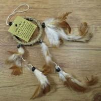 Traumfänger Sisal Dreamcatcher Traum Träume Federn Indianer beige 6 cm 8530066