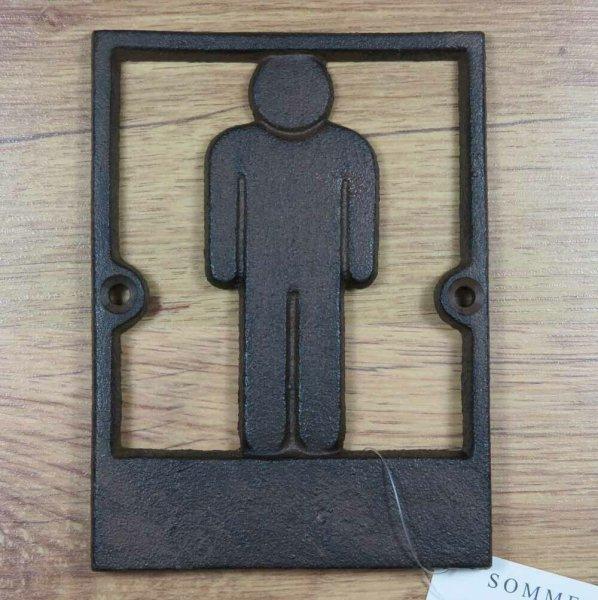 Türschild Gusseisen Wandschild WC-Schild Toilette WC Hinweisschild DC-046D