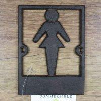 Türschild Gusseisen Wandschild WC-Schild Toilette WC Hinweisschild DC-046E
