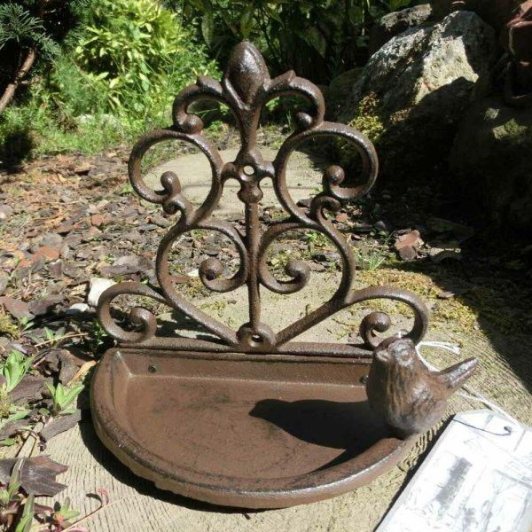Vogeltränke Gusseisen Wandvogeltränke Wandfutterschale Vogeltränken FB266
