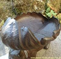 Vogeltränke Vogel Vogelbad Futterschale Tränke Eichhörnchen Gusseisen FB265