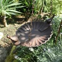 Vogeltränke zum hängen Gusseisen Vogel Vogelbad...
