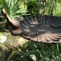 Vogeltränke zum hängen Gusseisen Vogel Vogelbad Futtertränke Tränke FB377