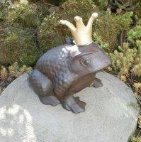 Froschkönig Frosch Gusseisen Krone Gartendekoration...