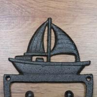 Garderobenhaken Gusseisen Kleiderhaken Wandhaken Sommerfield Schiff Boot KGG0935
